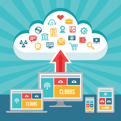 Clouds Network and Responsive Adaptive Web Design
