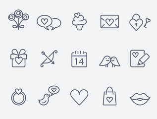 St. Valentine's Day icons