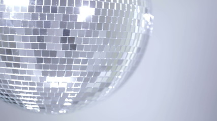 Disco ball with reflected moving rays.