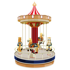 French carousel with horses