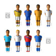 Footballers, soccer players. Brazil 2014, Group C and D.