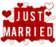 Just Married Red Stripes