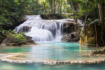 Erawan Water-fall in Thailand