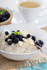 Barley porridge in a bowl
