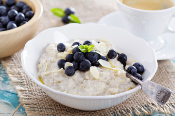Barley porridge in a bowl