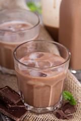 Homemade chocolate liquor