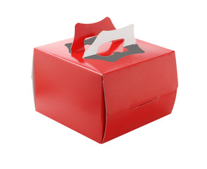 Red Takeaway Cake Box