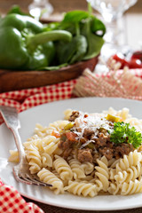 Pasta witn bolognese sauce