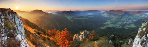 Panorama - Fall in Slovakia mountain Fatras