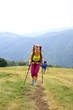 Summer trekking in the Carpathians.