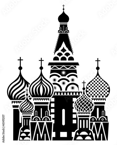 Moscow symbol - Saint Basil's Cathedral, Russia - 65411207