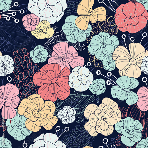 Seamless floral pattern - 65411603