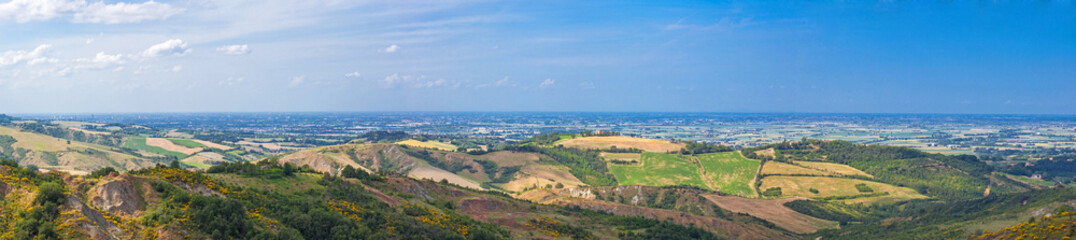 Panoramic view of the Po Valley