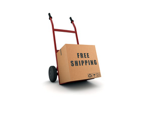 free shipping - scatolone su carrello