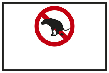 Schild Kein Hundeklo