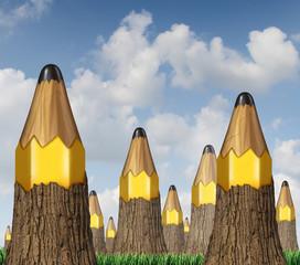 Pencil Tree Concept