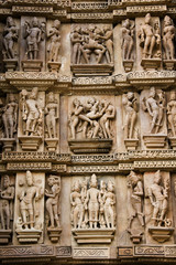 Erotic Carvings - Khajuraho - India