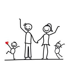 Familie mit zwei Kindern
