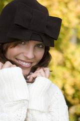 Frau im Herbst, Mode, modisch