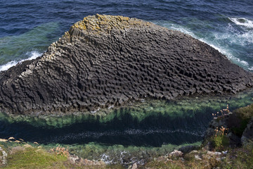 Basalt rock formation - Staffa - Scotland