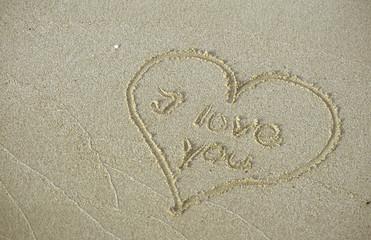 Herz im Sand, ich liebe dich