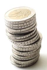 Stapel von 2 Euro Münzen