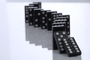 Fallende Reihe Dominosteine