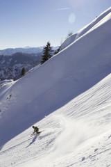 Deutschland, Bayern, Hochfelln, Skifahren in den Bergen