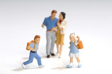 Figuren, Eltern und Schüler