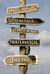 Deutschland, Amrum, Wegweiser