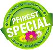 """Button Banner """"Pfingstspecial"""" grün"""