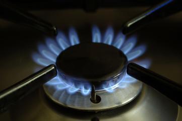 Flamme eines Gasherdes
