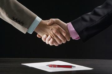 Geschäftsleute, Kollegen, Händeschütteln, Handschlag