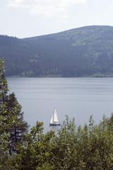 Deutschland, Schwarzwald, Schluchsee Boot