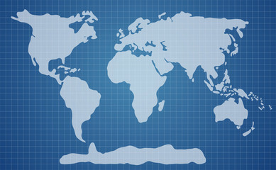 World map blue illustration
