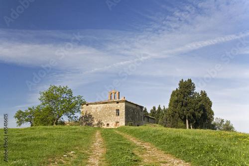 Italien, Toskana, Kirche Landschaft