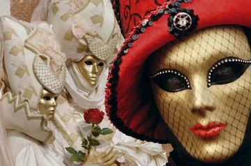 Italien, Venedig, maskierte Personen