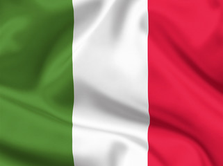 Italian satin or silk state flag