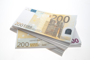 200 Euro-Banknoten, close up