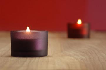 Brennende Kerzen, Weihnachtsdekoration