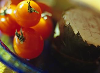 Cherry-Tomaten und Käse