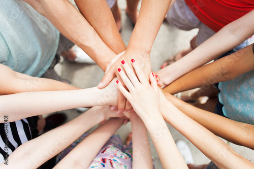 Hands joined in unity