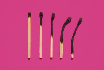 Streichhölzer abgebrannt
