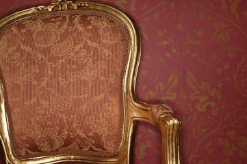 Rückenlehne eines barocken Stuhls