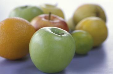 Apfel, Zitrone, Orange