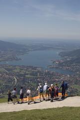 Deutschland, Bayern, Tegernsee, Wanderer Aussicht
