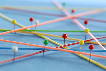 Netzwerk mit Stiften