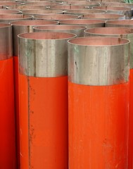 Large Orange Drainage Pipes