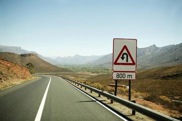 Südafrika, Straße in den Bergen