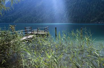Österreich, Kärnten, Weissensee, Steg am See